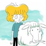 A loirinha com uma ovelha branca (Le petit blond avec un mouton blanc)