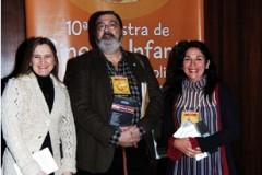Monica Fantin, Felipe Macedo e Adriana Fresquet