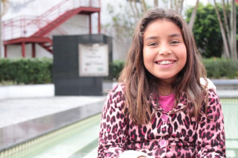 Isabeli, 9 anos, da escola Frei Damião.