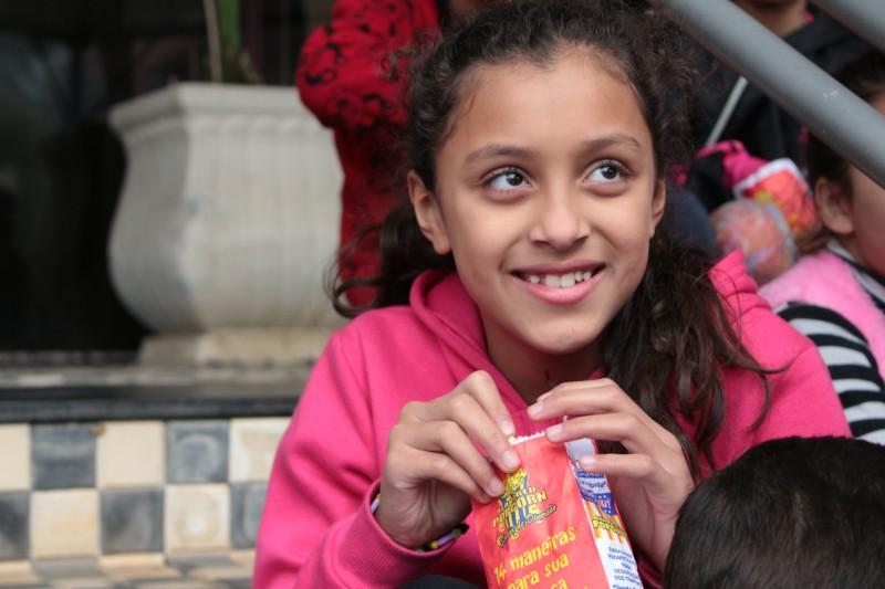 Nicoly, 10 anos, da escola Hilda Teodoro.