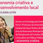 Cláudia Leitão palestra em Campos Novos sobre Economia Criativa e Desenvolvimento