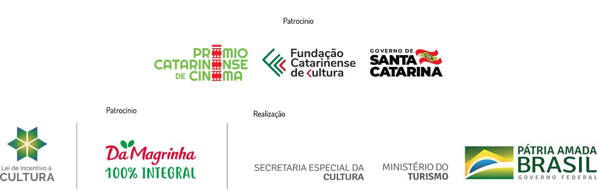logomarcas patrocinadores e realizadores